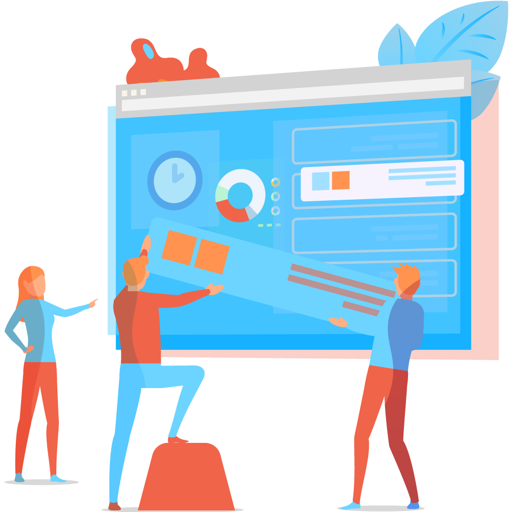 Arrière plan création de site web
