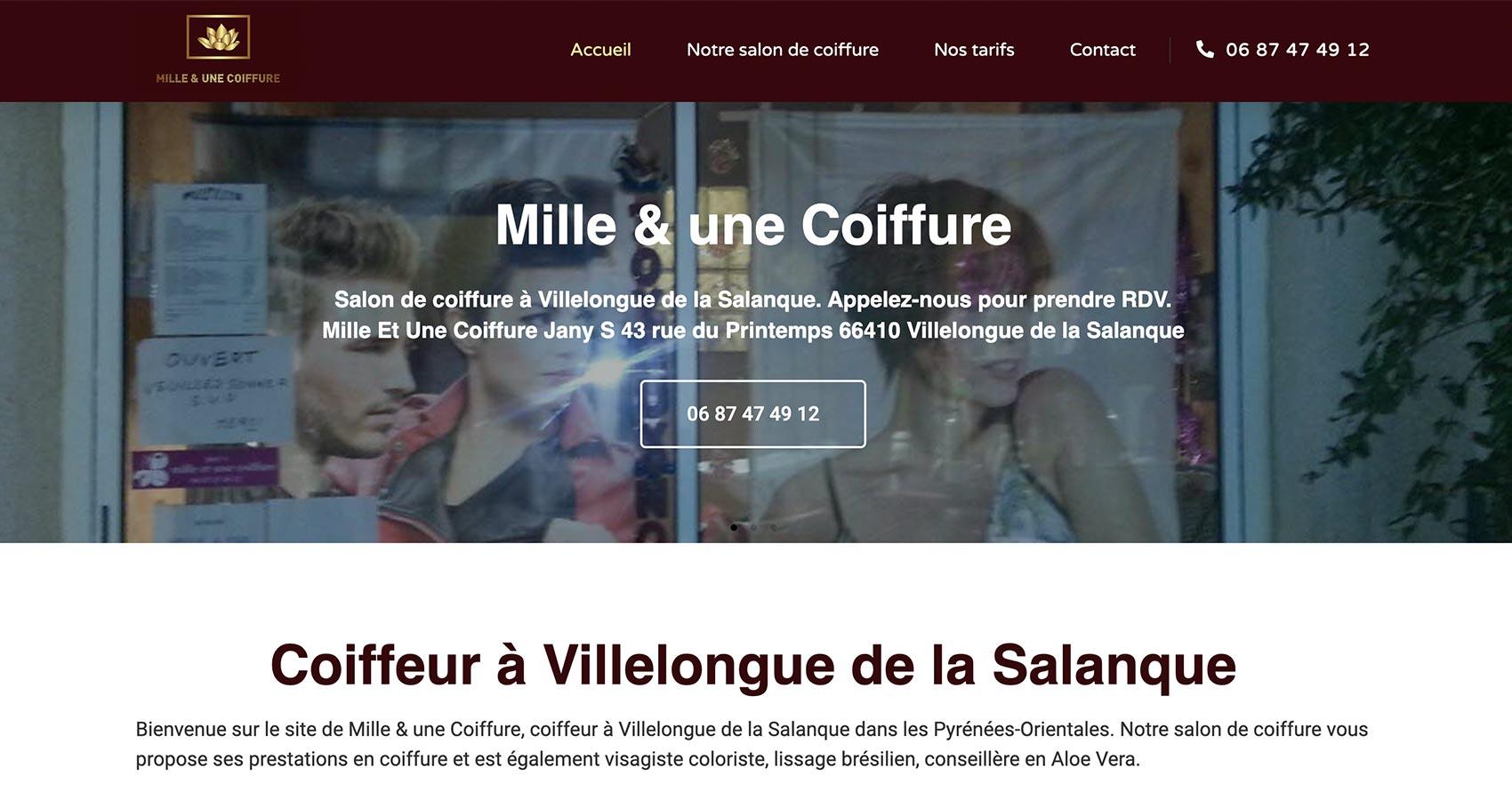 Création site web Perpignan - Mille & une Coiffure
