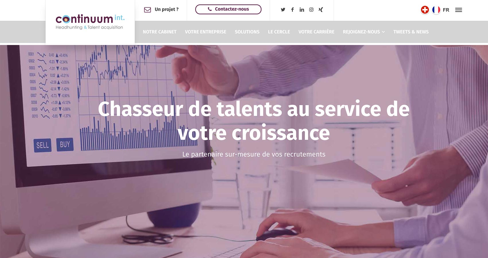 Création site web Perpignan - continuum international
