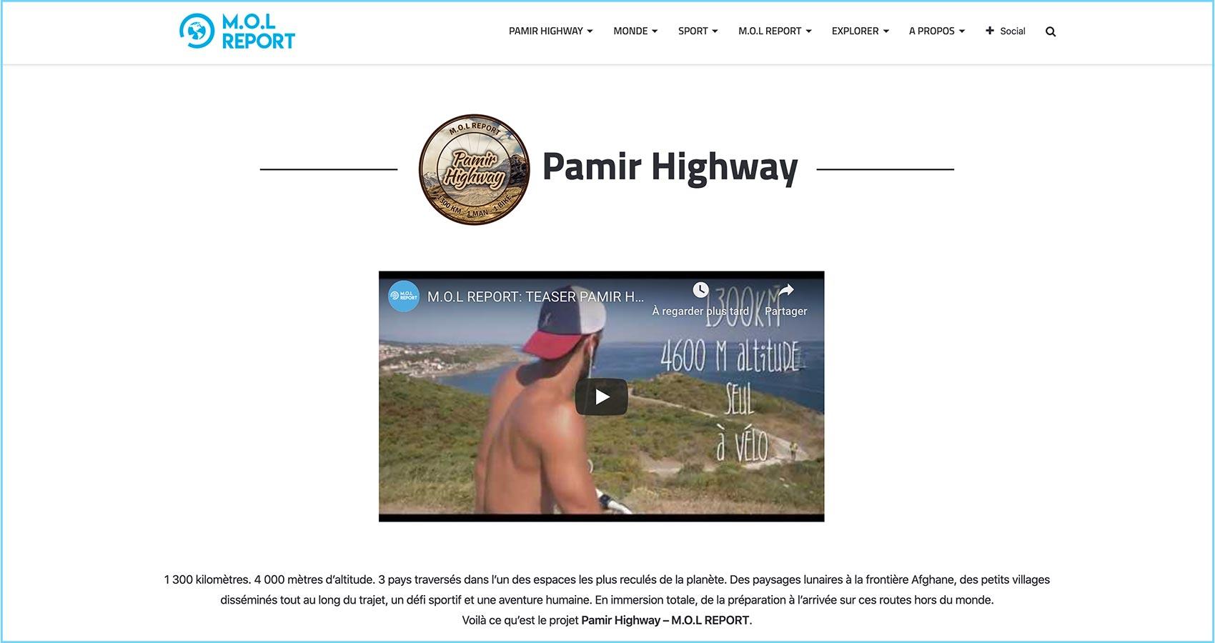 Création site web Perpignan - MOL REPORT