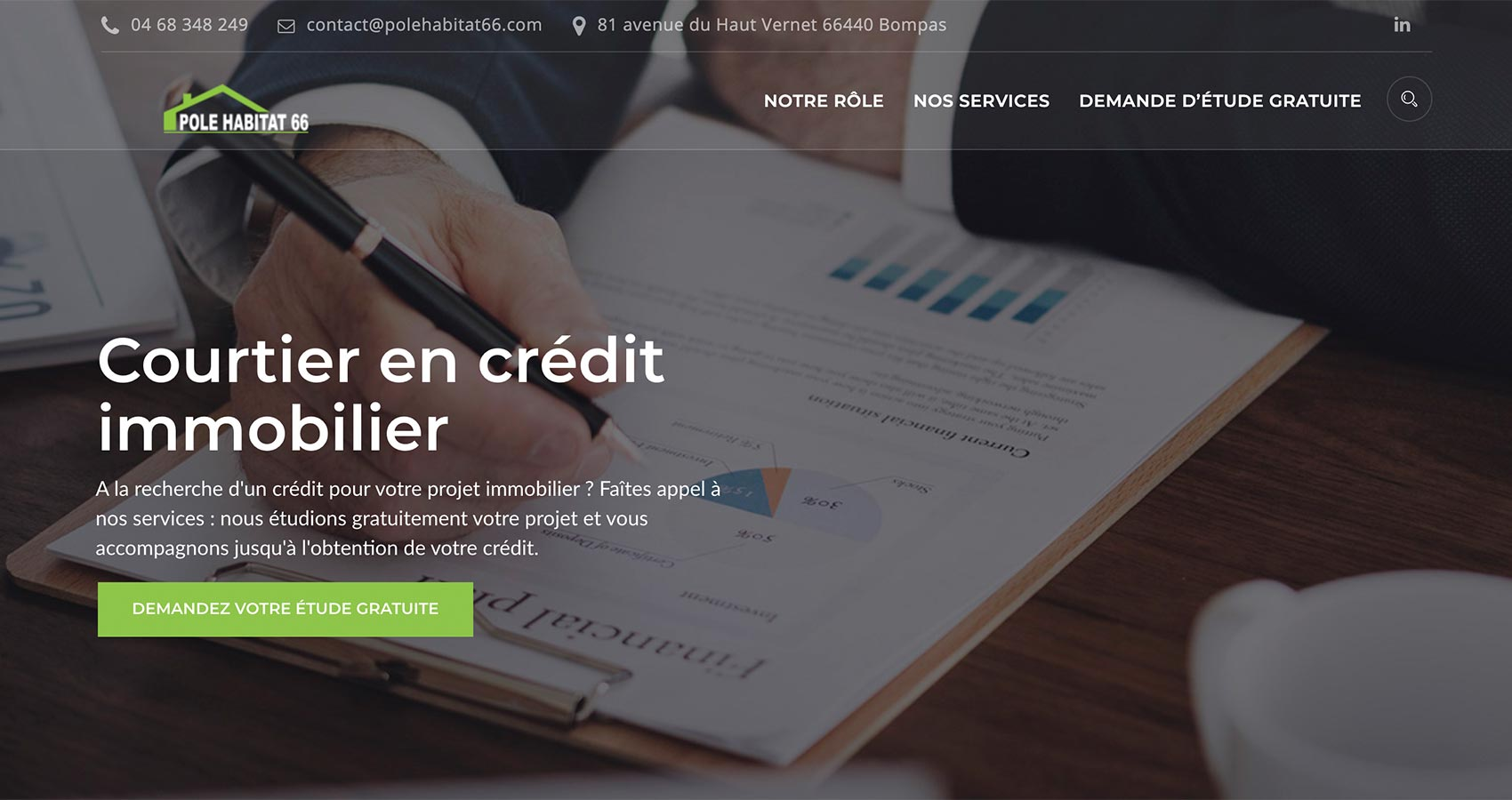 Création site web Perpignan - Pole Habitat 66
