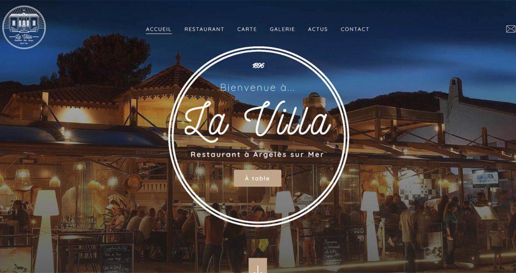 Création site web - Restaurant La Villa
