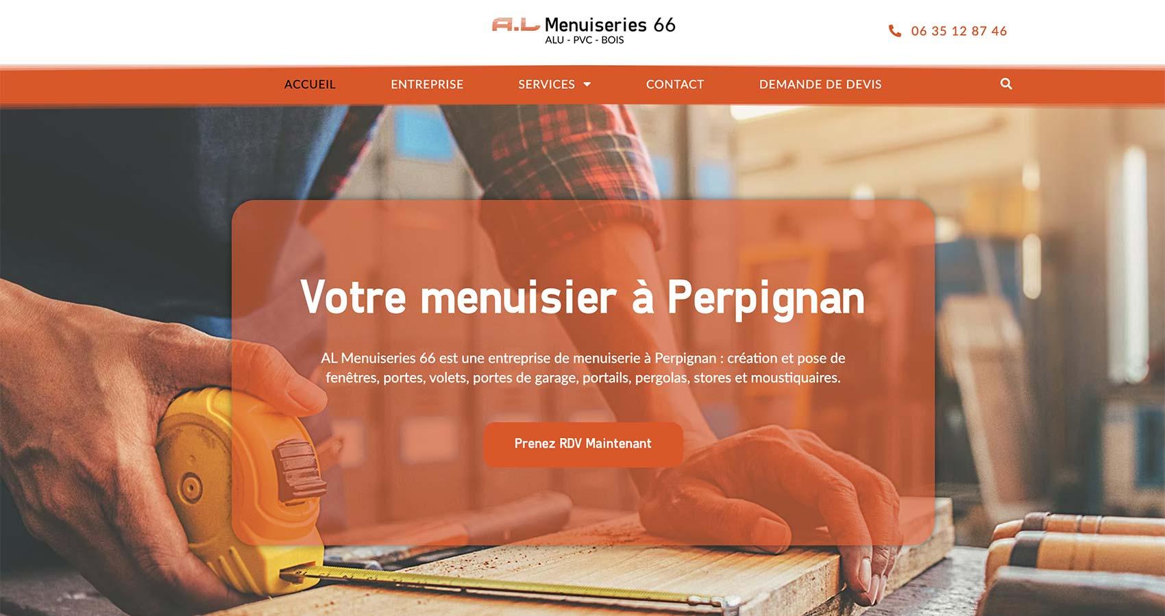 Création site web artisan menuisier Perpignan