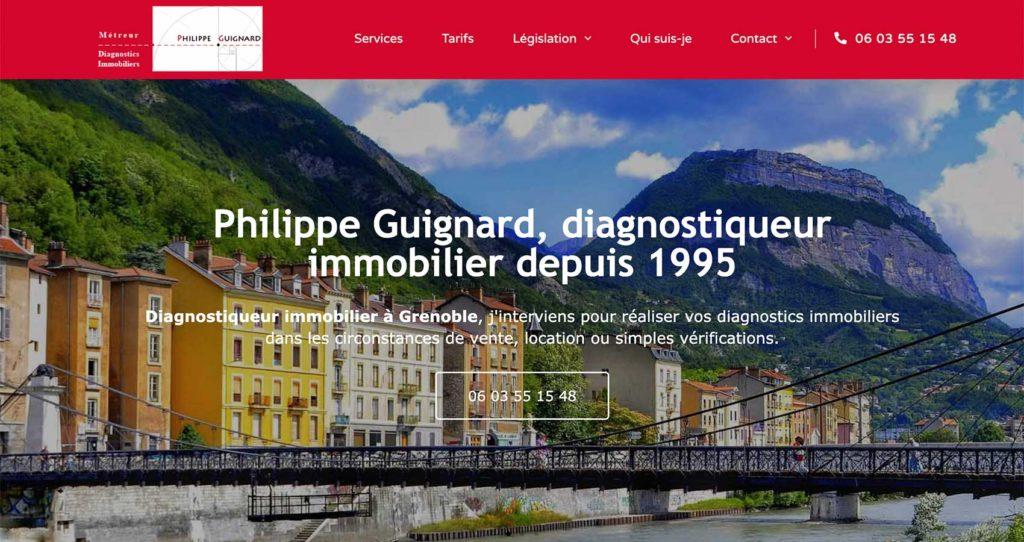 Création site web diagnostiqueur immobilier Guignard