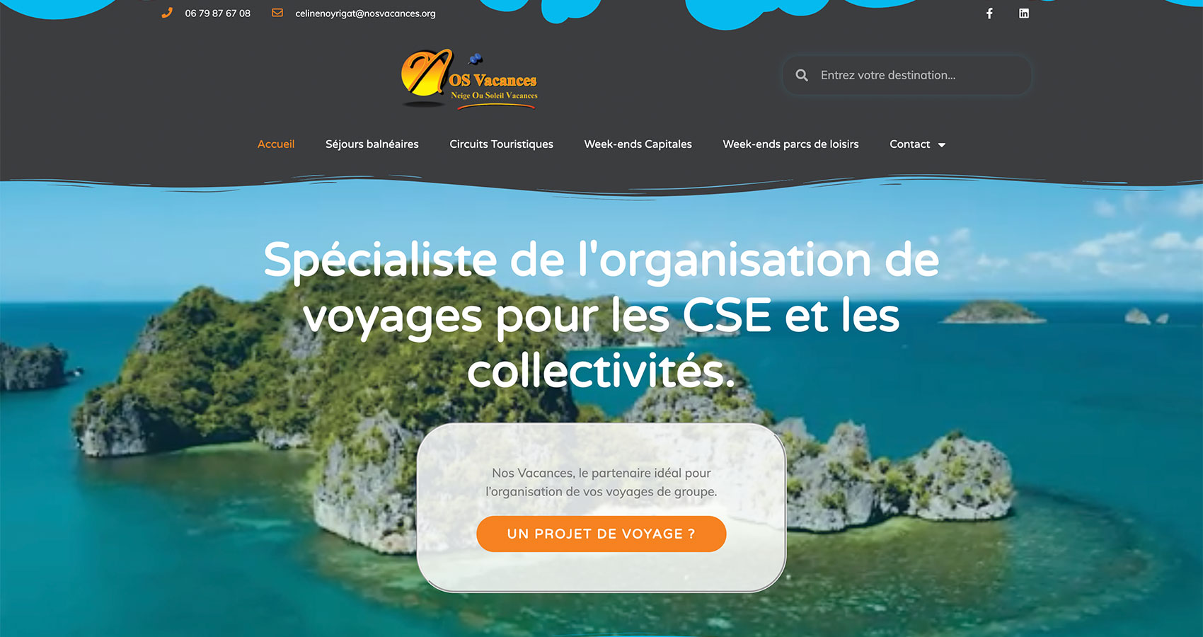 Création site web Nos Vacances