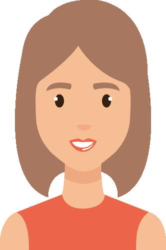 Personnage de femme - parrainage agence web