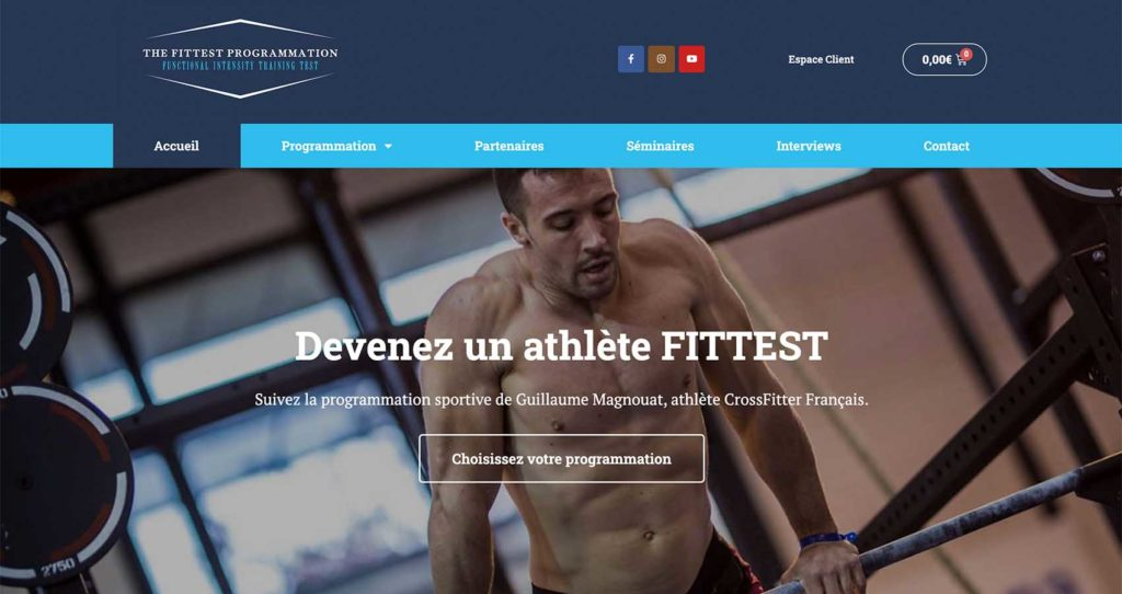 Création site web The Fittest Programmation