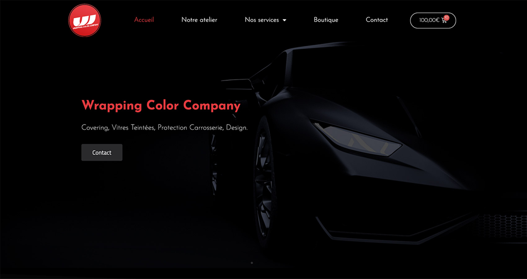 Création site web - Aperçu Wrapping Color Company