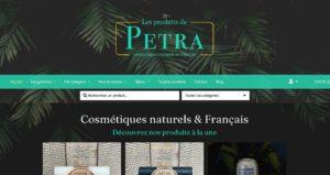 Création site ecommerce Les Produits de Petra