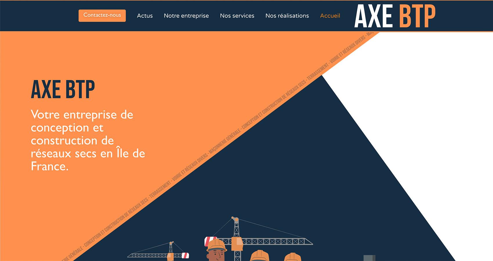 Création site web AXE BTP